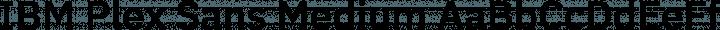 IBM Plex Sans Medium free font