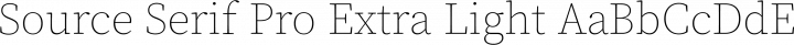 Source Serif Pro Extra Light free font