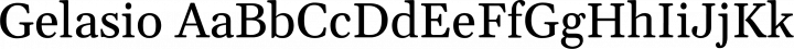 Gelasio font family by Sorkin Type Co