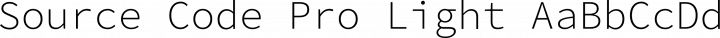 Source Code Pro Light free font