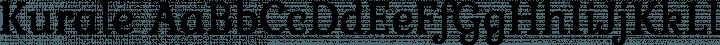 Kurale font family by Eduardo Tunni