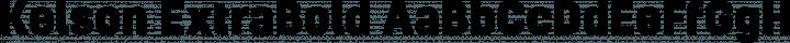 Kelson ExtraBold free font