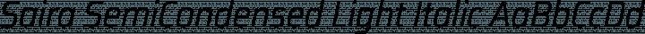 Saira SemiCondensed Light Italic free font