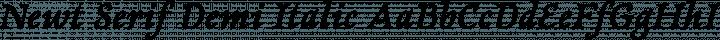 Newt Serif Demi Italic free font