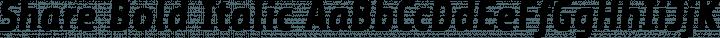 Share Bold Italic free font