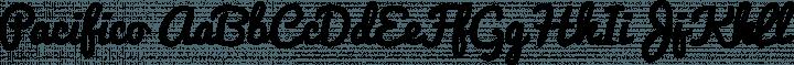 Pacifico Regular free font