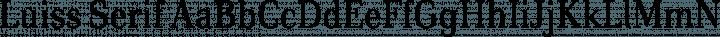 Luiss Serif Regular free font