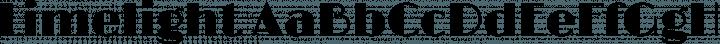 Limelight font family by Eben Sorkin