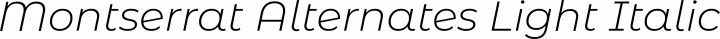 Montserrat Alternates Light Italic free font