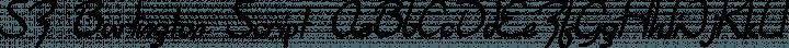 SF Burlington Script Regular free font