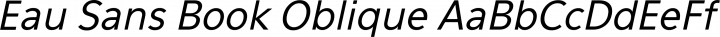Eau Sans Book Oblique free font