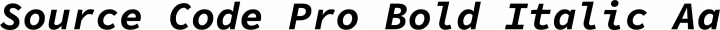 Source Code Pro Bold Italic free font