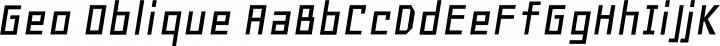 Geo Oblique free font