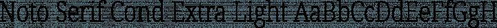 Noto Serif Cond Extra Light free font