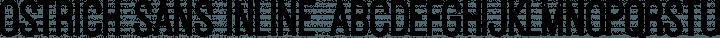 Ostrich Sans Inline font family by Tyler Finck