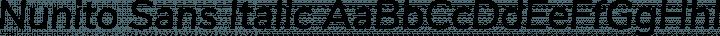 Nunito Sans Italic free font