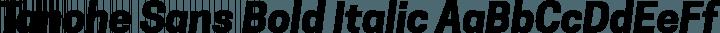 Tanohe Sans Bold Italic free font