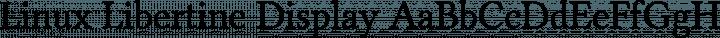 Linux Libertine Display free font