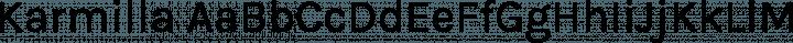Karmilla Regular free font
