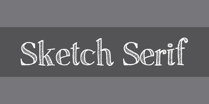 Sketch Serif » Font Zillion