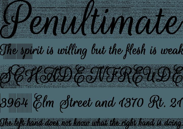 Rouge Script Font Phrases