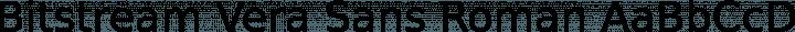 Bitstream Vera Sans Roman free font
