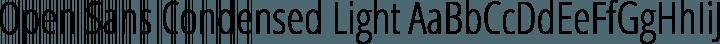 Open Sans Condensed Light free font
