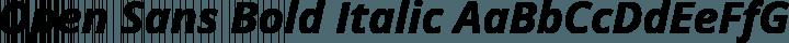 Open Sans Bold Italic free font