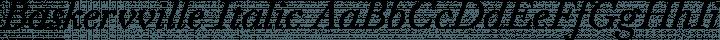 Baskervville Italic free font