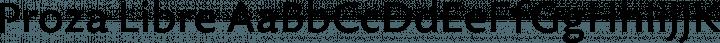 Proza Libre Regular free font
