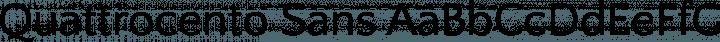 Quattrocento Sans font family by Impallari Type