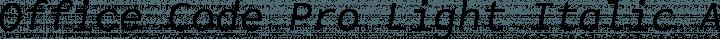 Office Code Pro Light Italic free font