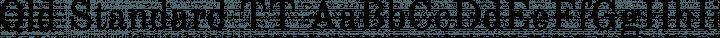 Old Standard TT Regular free font