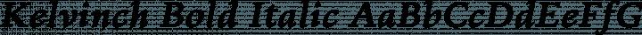 Kelvinch Bold Italic free font