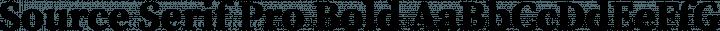 Source Serif Pro Bold free font