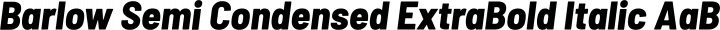 Barlow Semi Condensed ExtraBold Italic free font