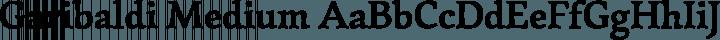 Garibaldi Medium free font
