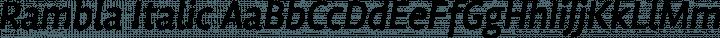 Rambla Italic free font