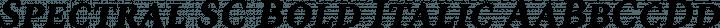 Spectral SC Bold Italic free font