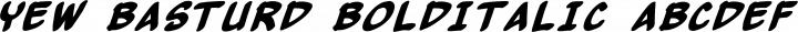 Yew Basturd BoldItalic free font