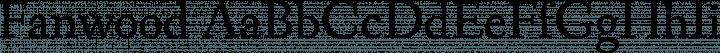 Fanwood font family by Barry Schwartz