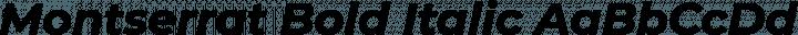 Montserrat Bold Italic free font