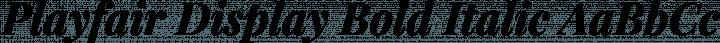 Playfair Display Bold Italic free font