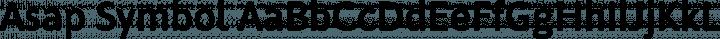 Asap Symbol free font