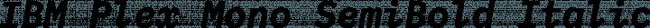 IBM Plex Mono SemiBold Italic free font