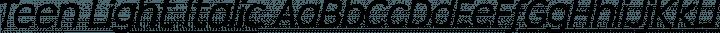 Teen Light Italic free font