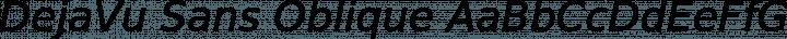 DejaVu Sans Oblique free font