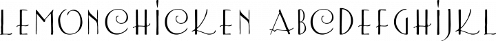LemonChicken font family by Crack-a-Jack Studios