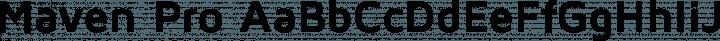 Maven Pro font family by Vissol Ltd.