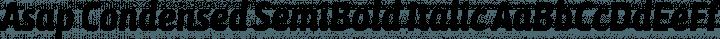 Asap Condensed SemiBold Italic free font